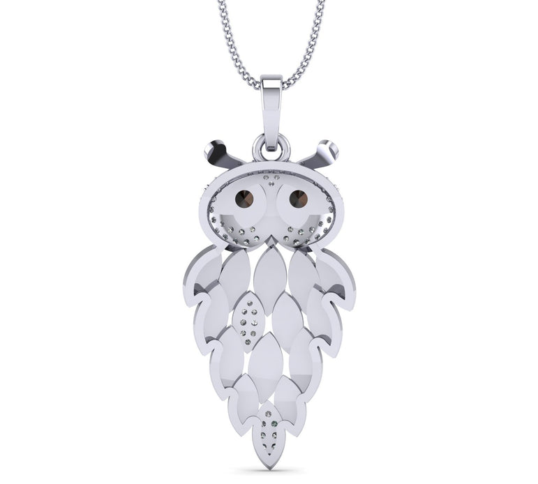 Hollow Owl shape Natural Diamond Casual Necklace for Women