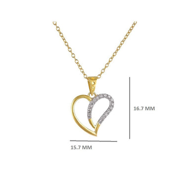1/8 Cts. Round Diamond Heart Pendant By Fehu Jewel