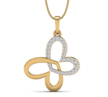 Yellow gold Love At First Heart Sight Pendant