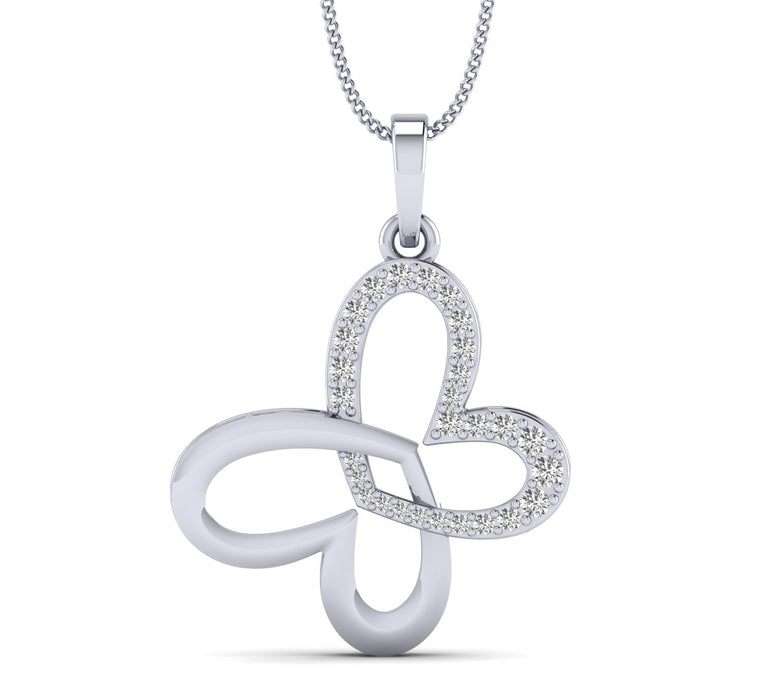 White gold Love At First Heart Sight Pendant