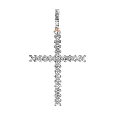 Rose Gold Cross Necklace Pendant for Men