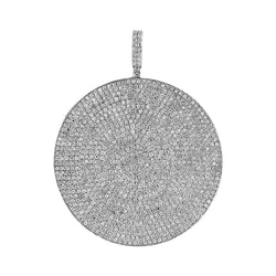 Men's Iced Out Round Hip Hop Pendant white gold