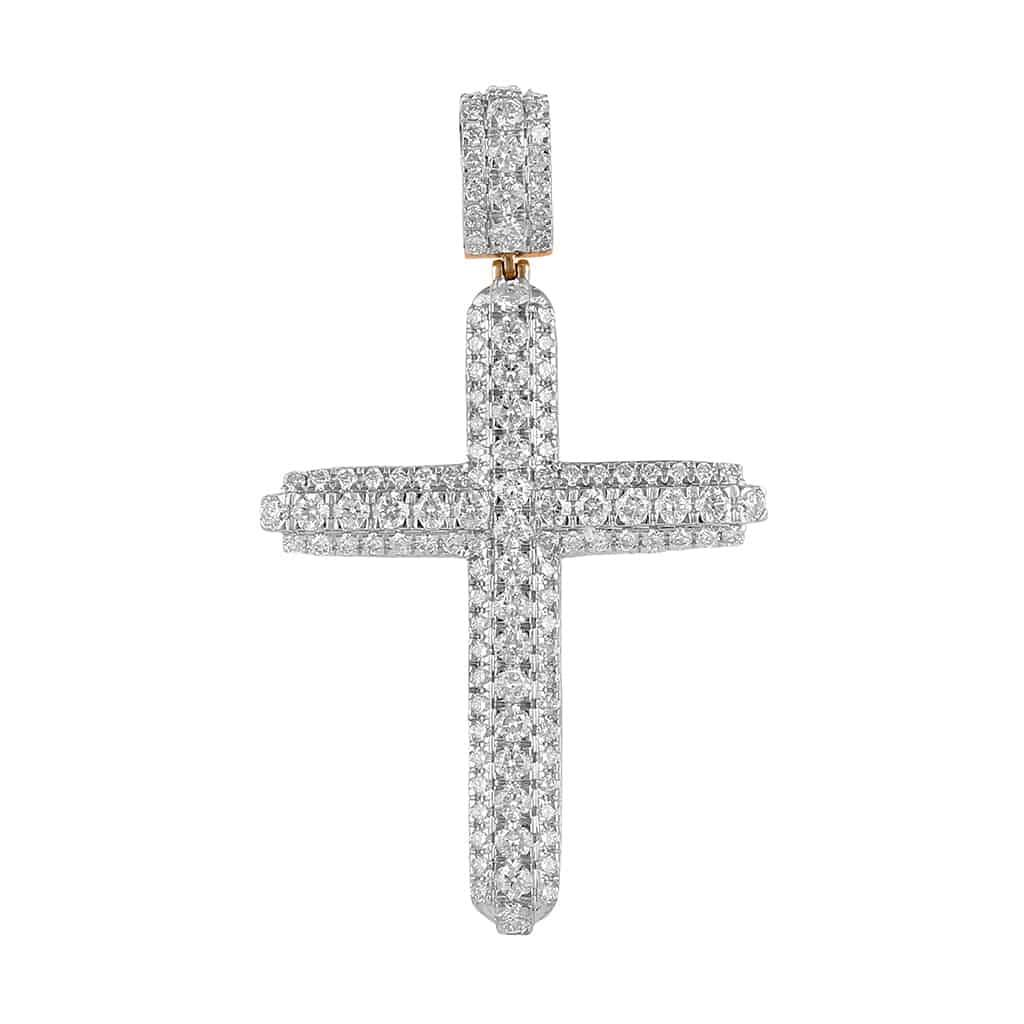 Diamond Cross Pendant rose gold