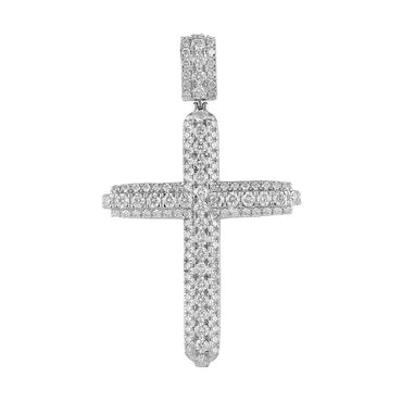 Diamond Cross Pendant white gold