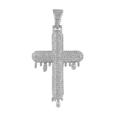 white gold Bubble Cross Pendant