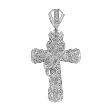 Men's Diamond Cross Pendant white gold