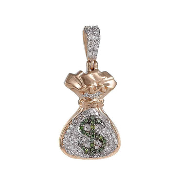 Little Money Bag Dollar Pendant rose gold