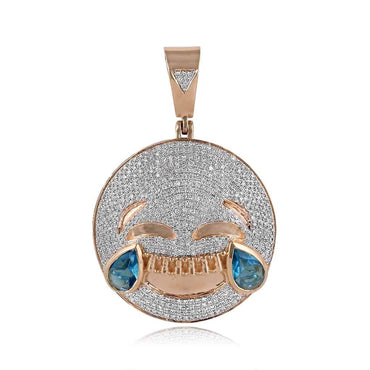 Smiling Emoji Necklace Pendant rose gold