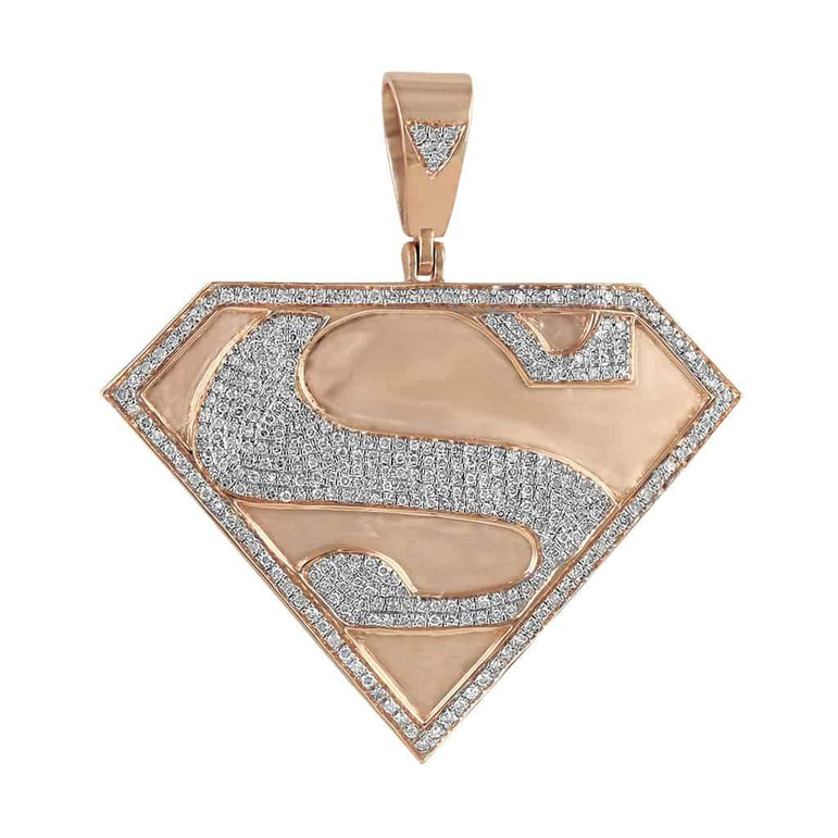 Superman Pendant rose gold