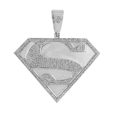 Superman Pendant white gold