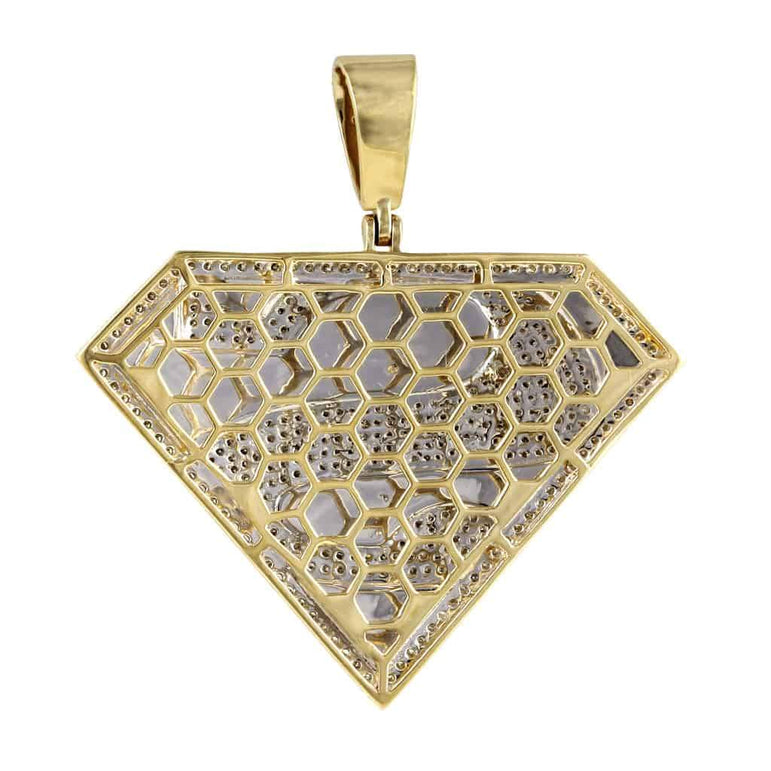 Superman Pendant yellow gold