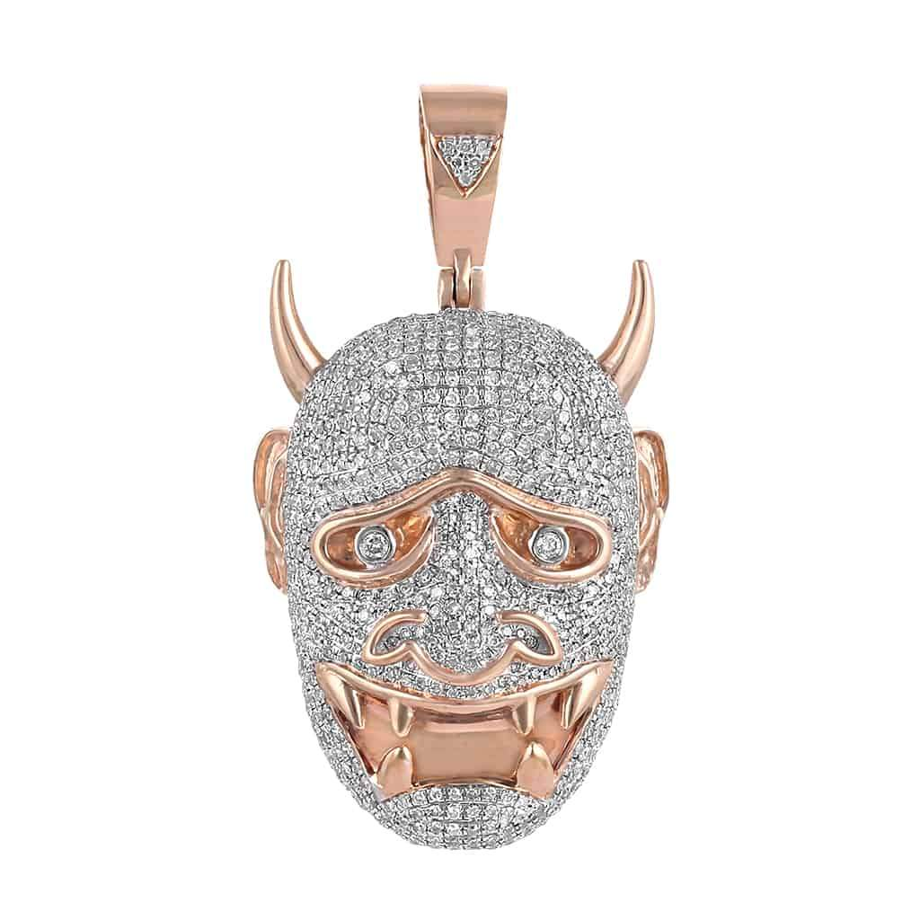 rose Gold Devil Necklace