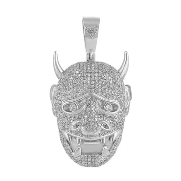white Gold Devil Necklace