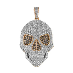 rose gold skull necklace pendant for men