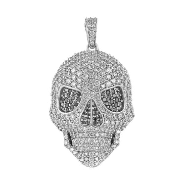 white gold skull necklace pendant for men