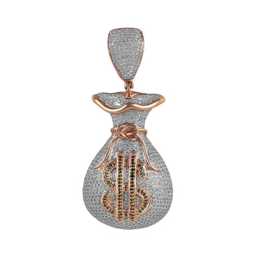 rose gold money bag pendant for men