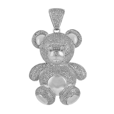 Diamond Teddy Bear Pendant white gold