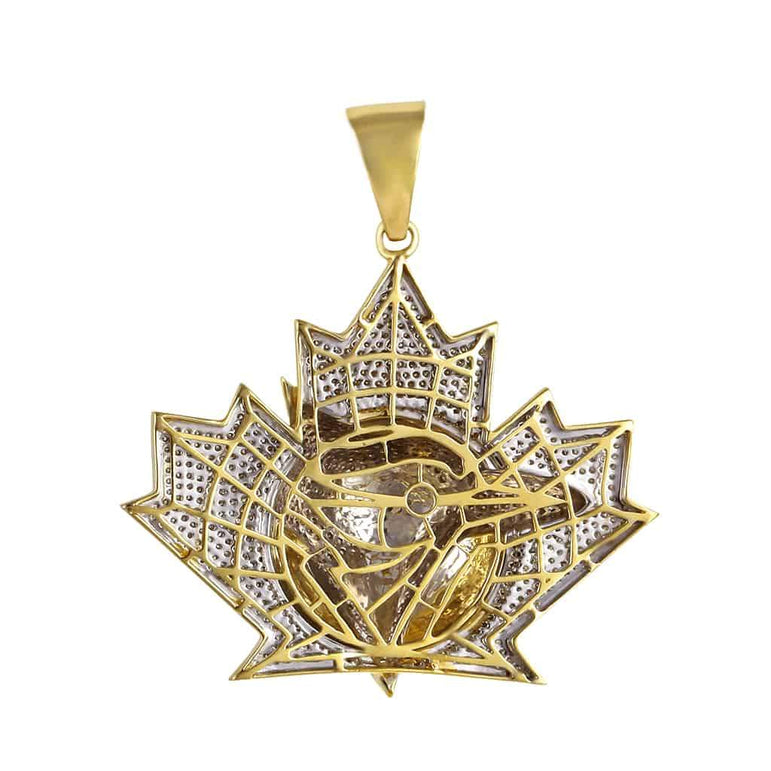 Maple Leaf German Eagle Pendant yellow gold