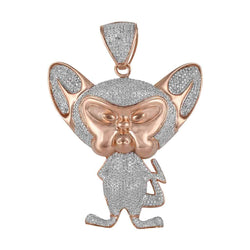 Pinky and The Brain Pendant rose gold