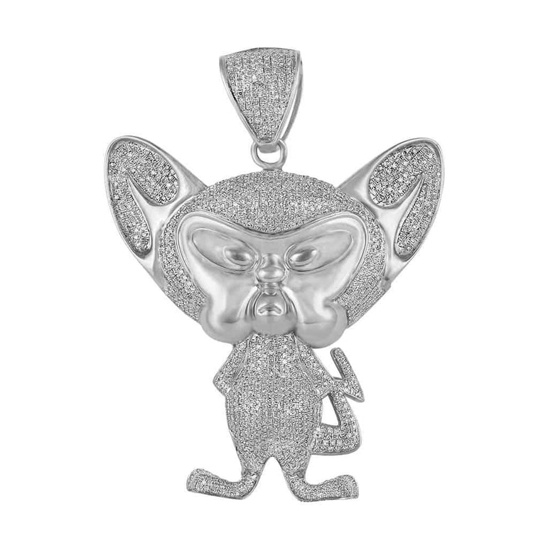 Pinky and The Brain Pendant white gold