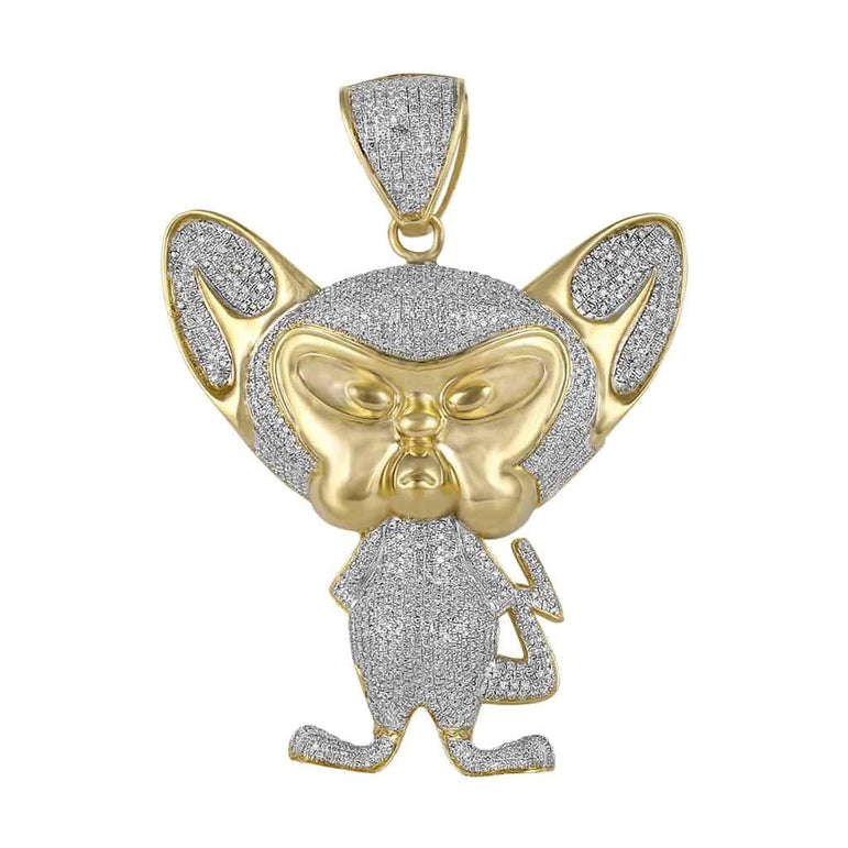 Pinky and The Brain Pendant yellow gold