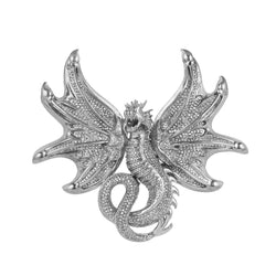 Flying Dragon Pendant white gold