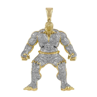 Hulk Diamond Pendant yellow gold