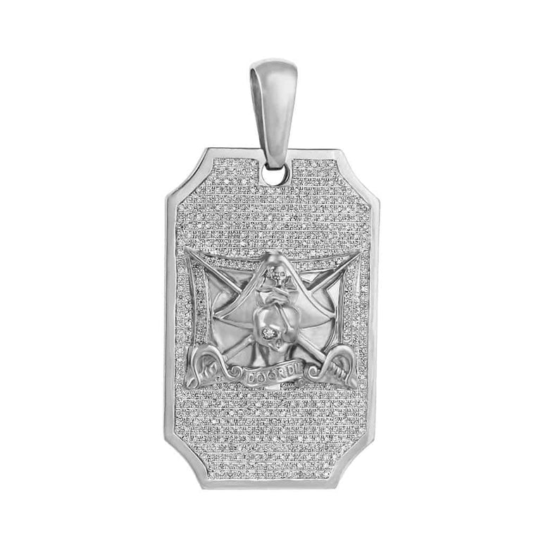 Door Die Pirate Pendant white gold