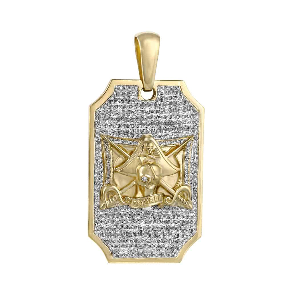 Door Die Pirate Pendant yellow gold