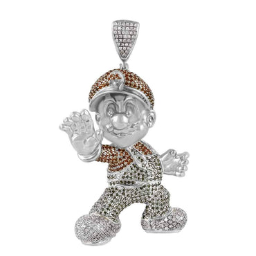 Super Mario Pendant white gold