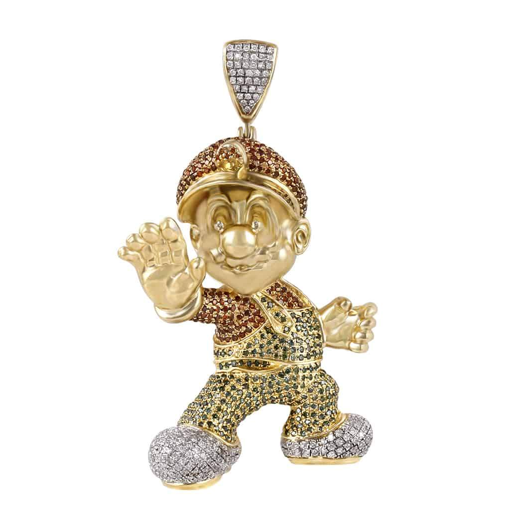 Super Mario Pendant yellow gold