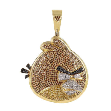Angry Bird Necklace Pendant yellow gold