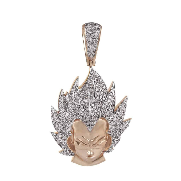 Dragon Ball Z Vegeta Necklace Pendant rose gold