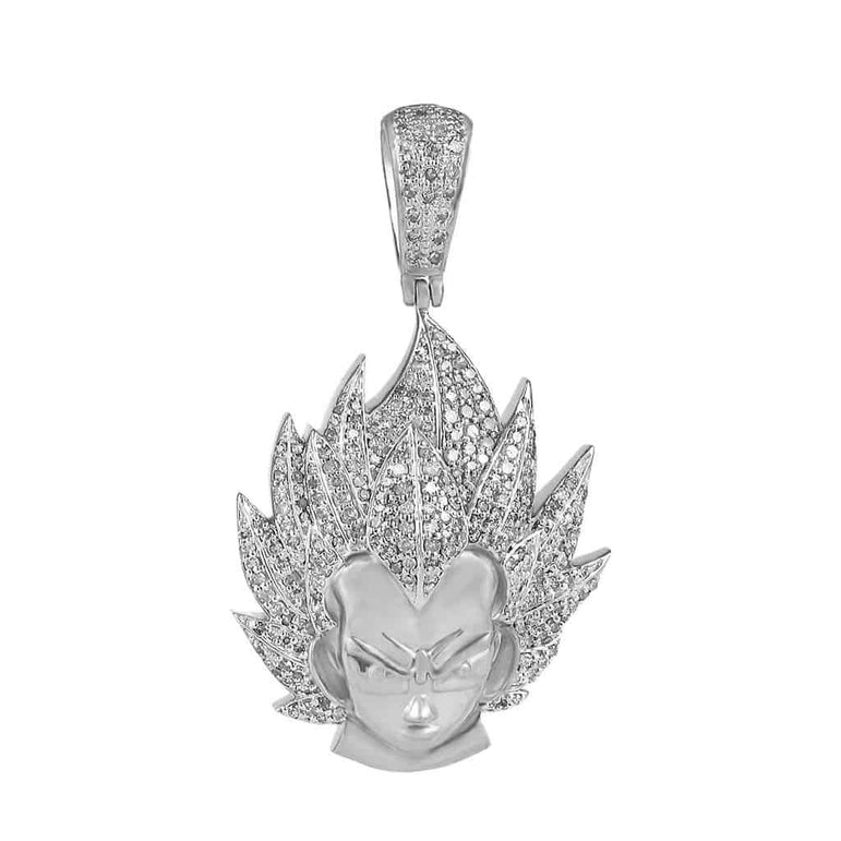 Dragon Ball Z Vegeta Necklace Pendant white gold
