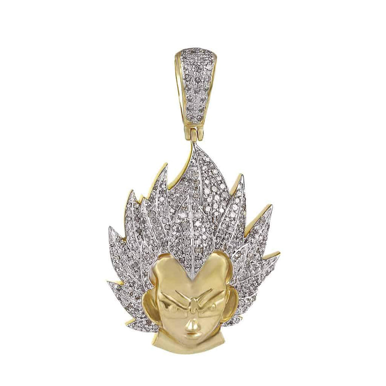 Dragon Ball Z Vegeta Necklace Pendant yellow gold