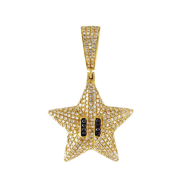 Starfish Necklace Pendant yellow gold