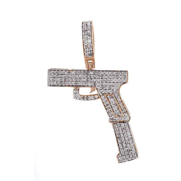 Gun Diamond Pendant rose gold