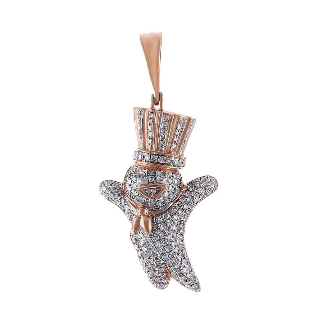 Snowman Pendant rose gold