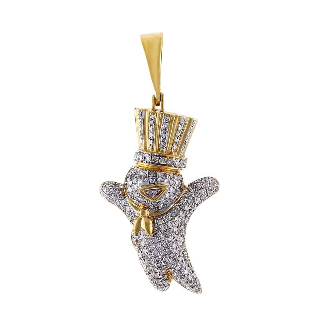 Snowman Pendant yellow gold