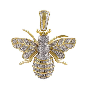 Honey Bee Pendant Necklace yellow gold