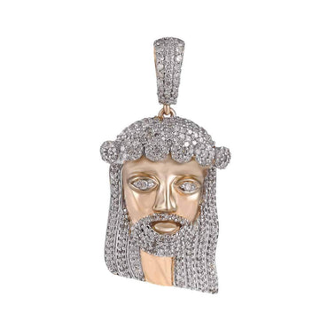 Jesus Head Diamond Pendant rose gold