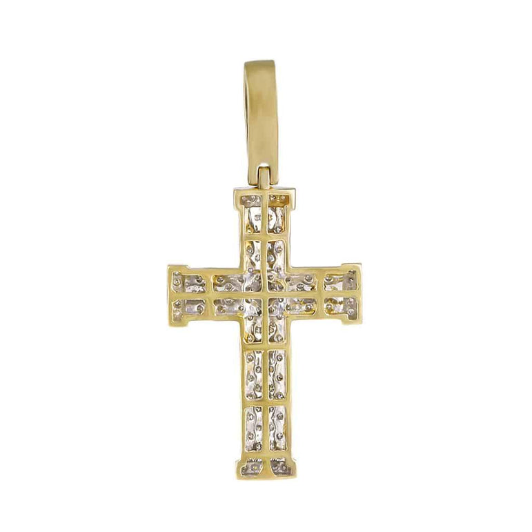 Men's Cross Necklace Pendant yellow gold