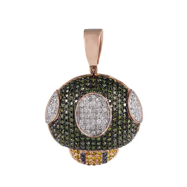 Green Diamonds Mushroom Pendant rose gold