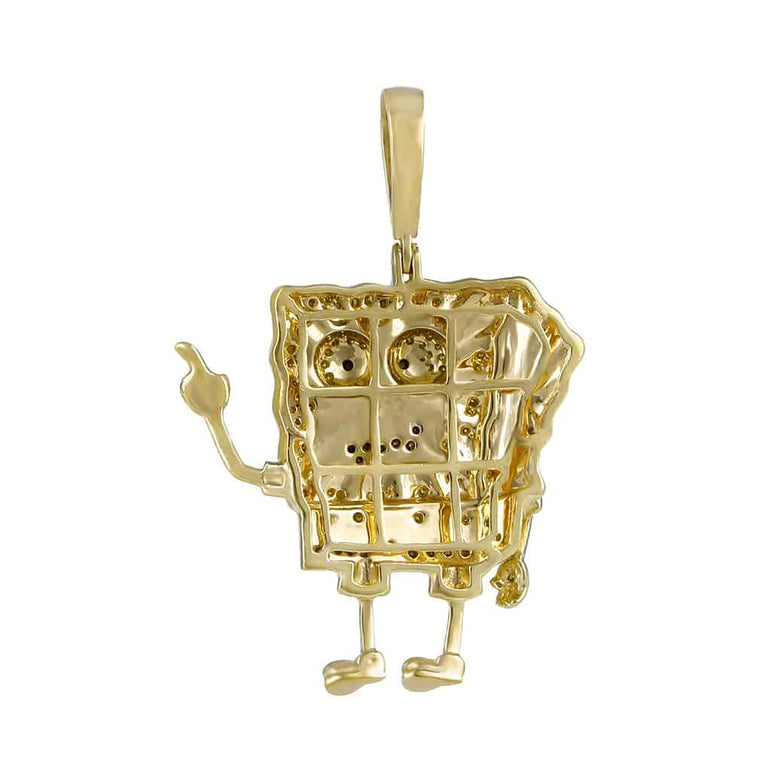 Spongebob Pendant yellow gold