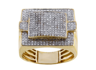 Men 10k Gold 0.52 ct Round Diamond by Fehu Jewel