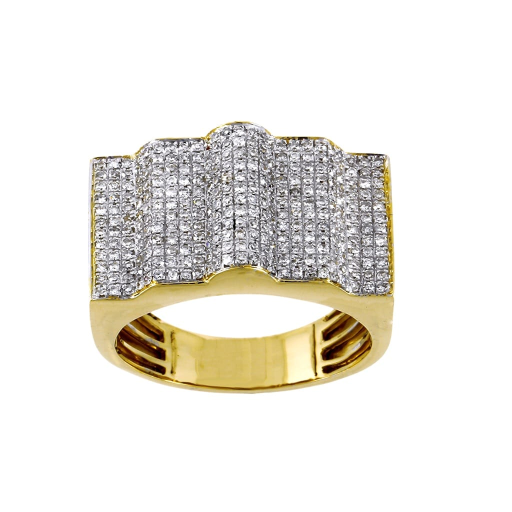 0.82 Cts. Diamond Step Design Men's Ring By Fehu Jewel