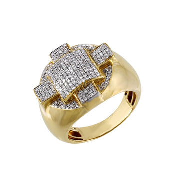 0.61 Cts. Round Cut Diamond Men's Ring By Fehu Jewel