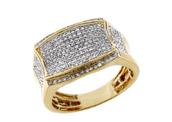 Men 10k Gold 0.57 ct Round Diamond by Fehu Jewel