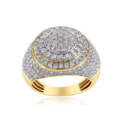 Iced Out Men's 2.31 Cts. Round Cut Diamond Ring By Fehu Jewel