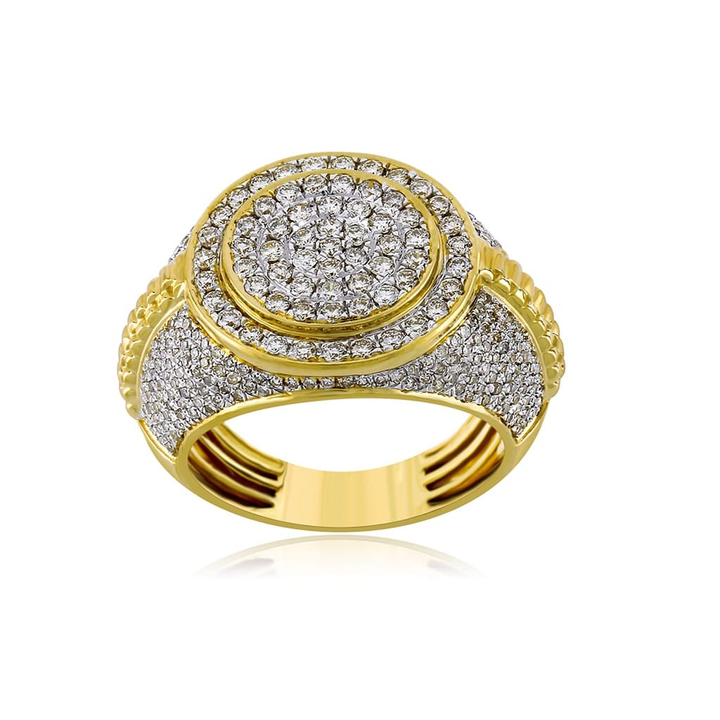 Men's Round Ring 1.72 Cts. Diamond By Fehu Jewel